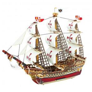 Корабль Санта-Мария 3D Пазлы Деревянные Robotime