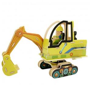 Экскаватор 3D Пазлы Деревянные Robotime