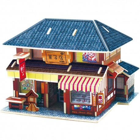 Японский десертный домик 3D Пазлы Деревянные Robotime