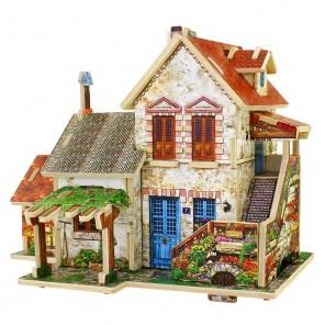 Французский фермерский домик 3D Пазлы Деревянные Robotime