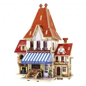 Французский цветочный магазин 3D Пазлы Деревянные Robotime