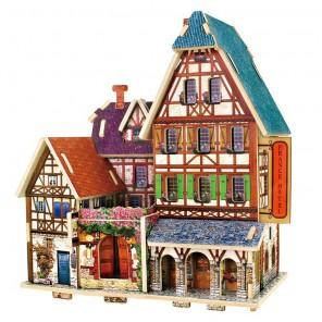 Французский отель 3D Пазлы Деревянные Robotime