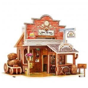 Американский бар 3D Пазлы Деревянные Robotime
