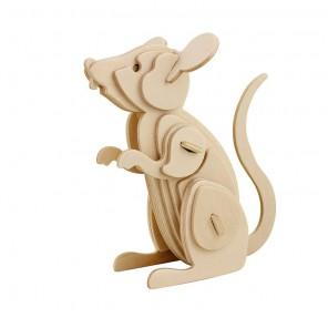 Мышь 3D Пазлы Деревянные Robotime