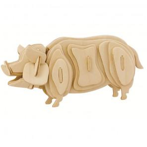 Свинья 3D Пазлы Деревянные Robotime