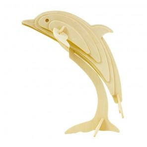 Дельфин 3D Пазлы Деревянные Robotime