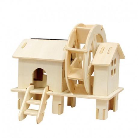 Водяное колесо 3D Пазлы Деревянные Robotime
