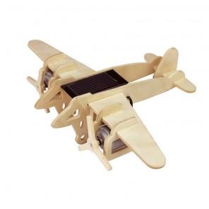 Бомбардировщик (на солнечной энергии) 3D Пазлы Деревянные Robotime