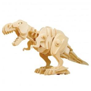 Тиранозавр кусающийся (управление звуком) 3D Пазлы Деревянные Robotime