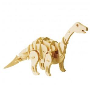 Мини Апатозавр (управление звуком) 3D Пазлы Деревянные Robotime