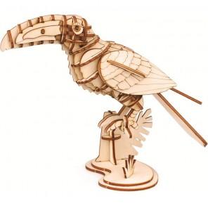 Тукан 3D Пазлы Деревянные Robotime