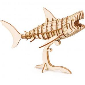 Акула 3D Пазлы Деревянные Robotime