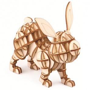 Заяц 3D Пазлы Деревянные Robotime