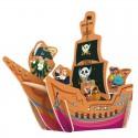 Пиратский корабль 3D Пазлы Деревянные Robotime