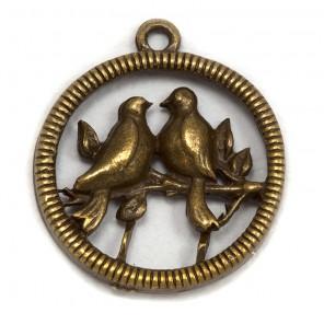 Птицы на веточке Подвеска металлическая для скрапбукинга, кардмейкинга  Webster`s pages