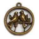 Птицы на веточке Подвески металлические для скрапбукинга, кардмейкинга Webster`s pages