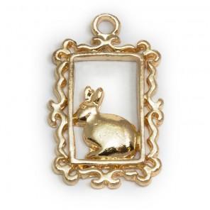 Кролик в рамке Подвески металлические для скрапбукинга, кардмейкинга  Webster`s pages