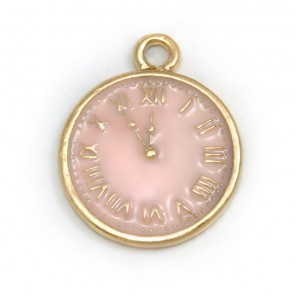 Розовые часы Подвеска металлическая для скрапбукинга, кардмейкинга  Webster`s pages