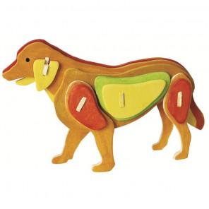 Собака 3D Пазлы Деревянные Robotime