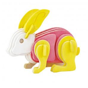 Кролик 3D Пазлы Деревянные Robotime