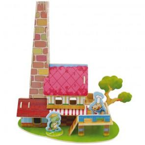 Ресторан 3D Пазлы Деревянные Robotime
