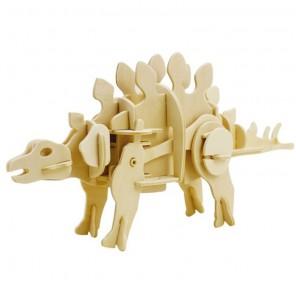 Стегозавр (на батарейках) 3D Пазлы Деревянные Robotime