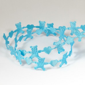 Голубые мишки Лента декоративная для скрапбукинга, кардмейкинга