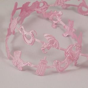 Розовая детская Лента декоративная для скрапбукинга, кардмейкинга