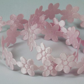 Светло-розовые цветы Лента декоративная для скрапбукинга, кардмейкинга