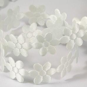 Белые цветы Лента декоративная для скрапбукинга, кардмейкинга