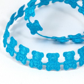 Синие мишки Лента декоративная для скрапбукинга, кардмейкинга