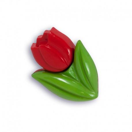 Тюльпан красный Пуговицы декоративные