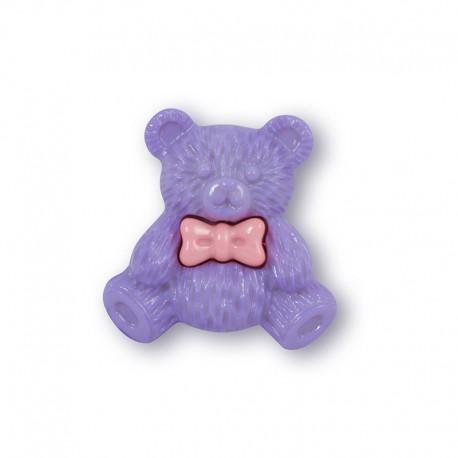 Мишка сиреневый Пуговицы декоративные