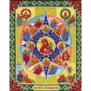 Богородица Неопалимая купина Набор для частичной вышивки бисером Паутинка