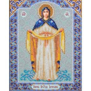 Богородица Покрова Набор для частичной вышивки бисером Паутинка