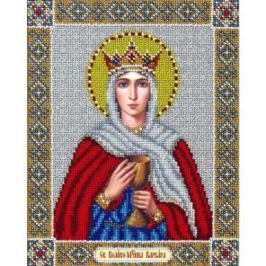 Святая Варвара Набор для частичной вышивки бисером Паутинка