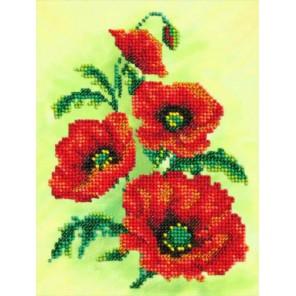 Аленький цветочек Набор для частичной вышивки бисером Паутинка