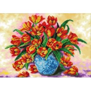 Тюльпаны Набор для частичной вышивки бисером Паутинка