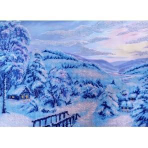 Зимняя сказка Набор для частичной вышивки бисером Паутинка