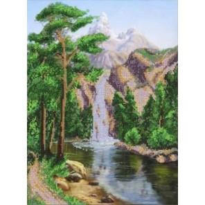 Водопад Набор для частичной вышивки бисером Паутинка