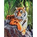 Тигр Набор для частичной вышивки бисером Паутинка