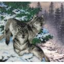 Гармония леса Набор для частичной вышивки бисером Паутинка