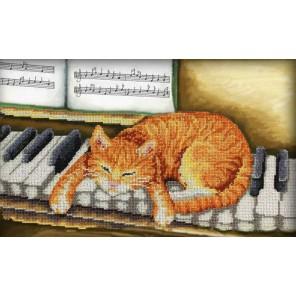 Музыкальная пауза Набор для частичной вышивки бисером Паутинка