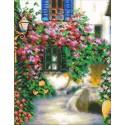 Цветочная улочка Набор для частичной вышивки бисером Паутинка