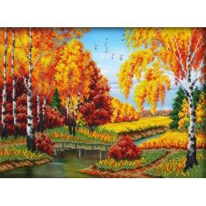 Золотая осень Набор для частичной вышивки бисером Паутинка