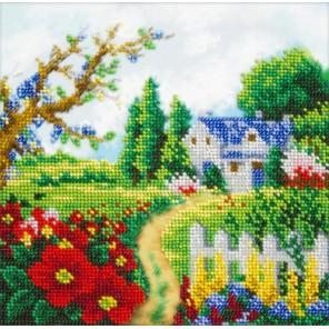 Весенний пейзаж Набор для частичной вышивки бисером Паутинка