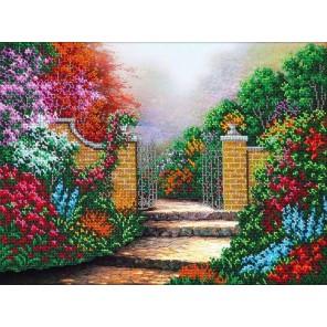 Дорожка в сад Набор для частичной вышивки бисером Паутинка