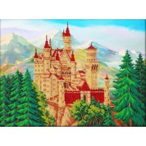Замок летом Набор для частичной вышивки бисером Паутинка
