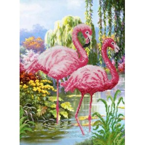Фламинго Набор для частичной вышивки бисером Паутинка