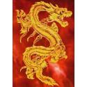 Восточный дракон Набор для частичной вышивки бисером Паутинка